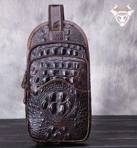 Túi đeo lưng nam vân cá sấu 04 TDL-VCS04