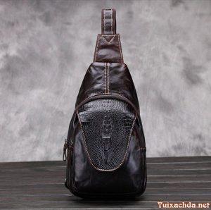Túi đeo lưng nam vân cá sấu TDL-VCS06