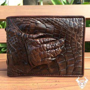 Bóp bàn tay da cá sấu thật giá rẻ VB0206