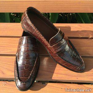 Giày lười nam da bò giả vân cá sấu GCS01