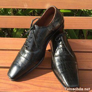 Giày tây nam da bò giả vân cá sấu GCS02