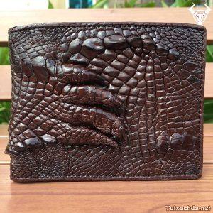 Bóp da cá sấu nam móng tay