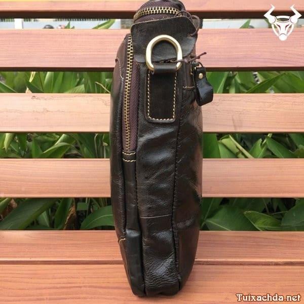 Túi da nam đeo chéo đựng ipad 12 inch 2