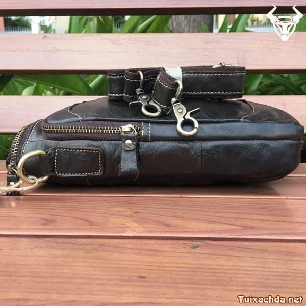 Túi da nam đeo chéo đựng ipad 12 inch 4