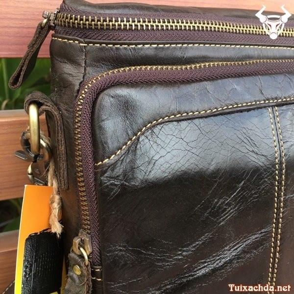 Túi da nam đeo chéo đựng ipad 12 inch 6