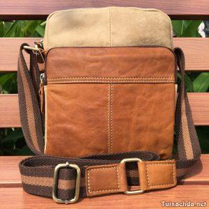 Túi đeo chéo nam đựng ipad mini da thật KT09