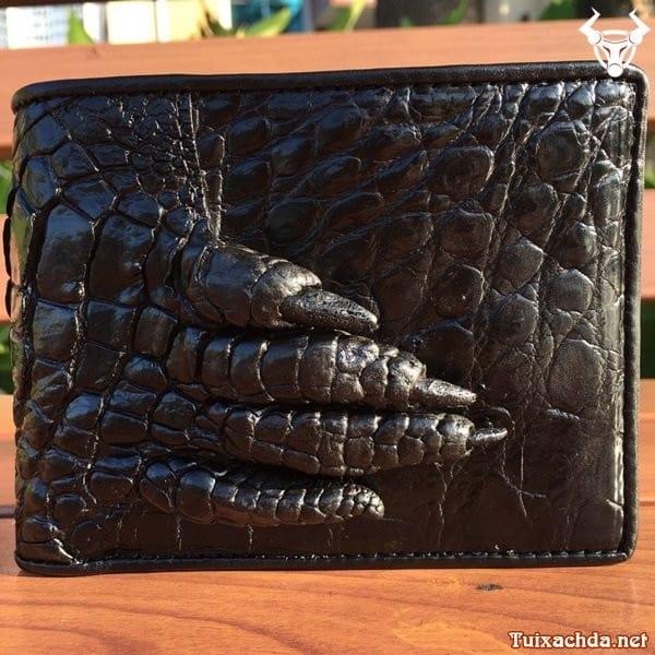 Ví da cá sấu móng tay giá rẻ cho nam