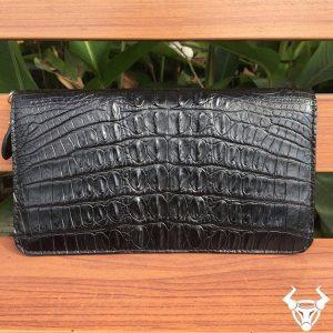 Bóp Da Cá Sấu Nữ Hàng Xuất Khẩu BI0101-ĐEN