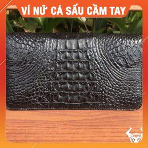 Bóp Da Cá Sấu Nữ Hàng Xuất Khẩu BI1A1-ĐEN