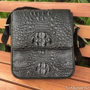 Túi Da Cá Sấu Thật Đựng Ipad 12 inch CST07