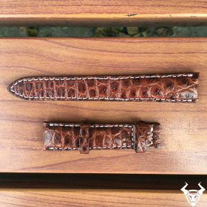 Dây đồng hồ da cá sấu thật DH03 18mm