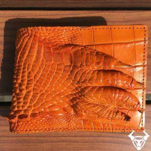 Ví Nam Da Cá Sấu Thật Móng Vuốt VB6A6