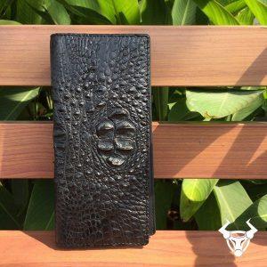 Bóp cầm tay nam da cá sấu đựng iphone 6 Plus BT0104