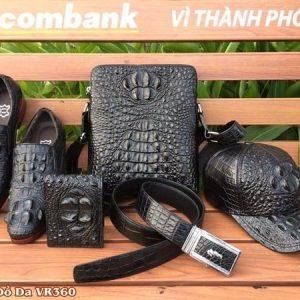 Combo Đồ Da Cá Sấu: Túi + Giày + Nón + Ví + Thắt Lưng