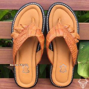 Dép Da Nam Tông Da Cá Sấu Thật DCS06