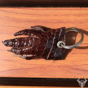 Móc Khóa Da Cá Sấu Nâu Đỏ MK12