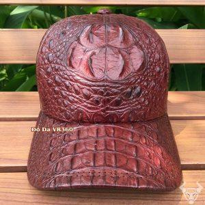 Nón nam da cá sấu Đỏ Rượu Trẻ Trung NCS06