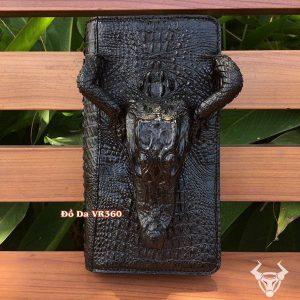 Ví Cầm Tay Nam Nữ Nguyên Đầu Con Cá Sấu BI0110-Đ