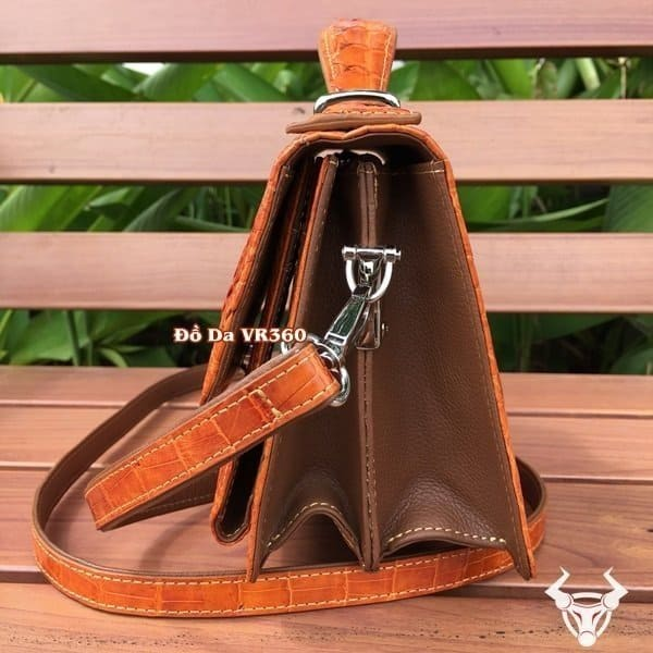 Tuidacasau.vn Tui Xach Nu Da Ca Sau Mini Tx01 Vang Cam3
