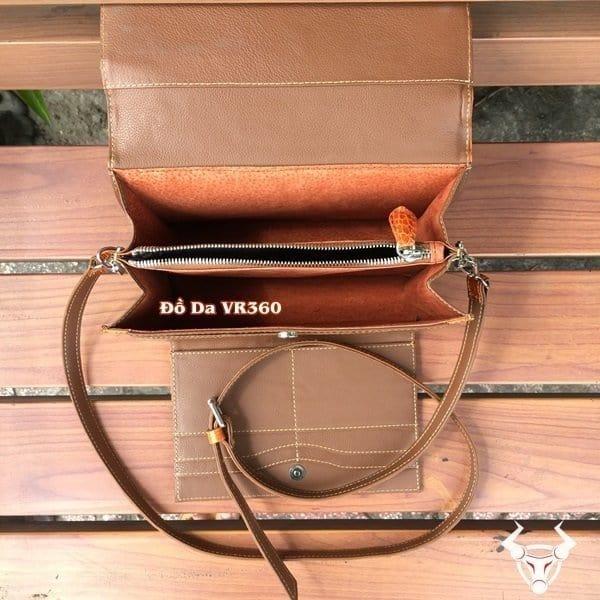 Tuidacasau.vn Tui Xach Nu Da Ca Sau Mini Tx01 Vang Cam4