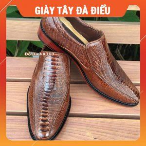 Giày Da Đà Điểu Kiểu Tây