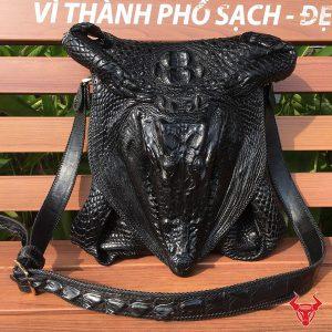 Túi Da Cá Sấu Nguyên Con Handmade TI0110