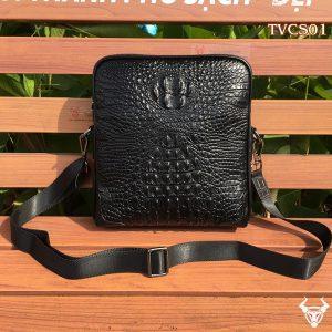 Túi đeo chéo nam vân cá sấu TVCS01