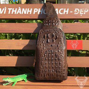 Túi Da Cá Sấu Đeo Trước ngực TDL-CS01-N