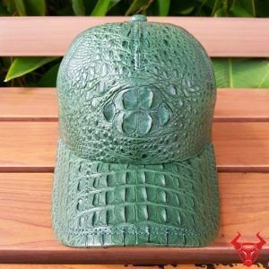 Nón Da Cá Sấu Nữ Xanh Lá Cây NCS13