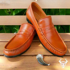 Giày Lười Nam Da Bóng Cao Cấp Đế Bò GM02