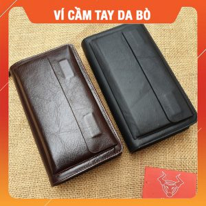 Ví Cầm Tay Nam Da Bò VCT08