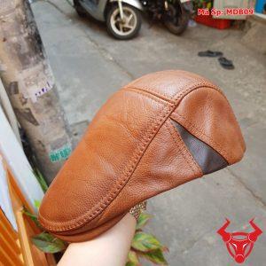 Mũ Beret Nam Da Bò MDB09