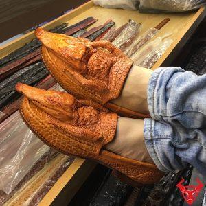 Giày Da Cá Sấu Nam Nguyên Con GĐC01