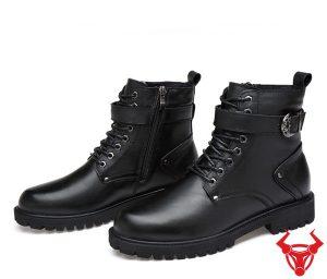 Giày Boot Nam Cổ Thấp Da Bò GB02