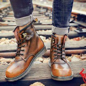 Giày Boot Nam Cổ Cao Da Bò GB03