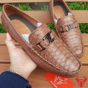 Giày Lười Nam Da Trăn Nhập Khẩu GDT03