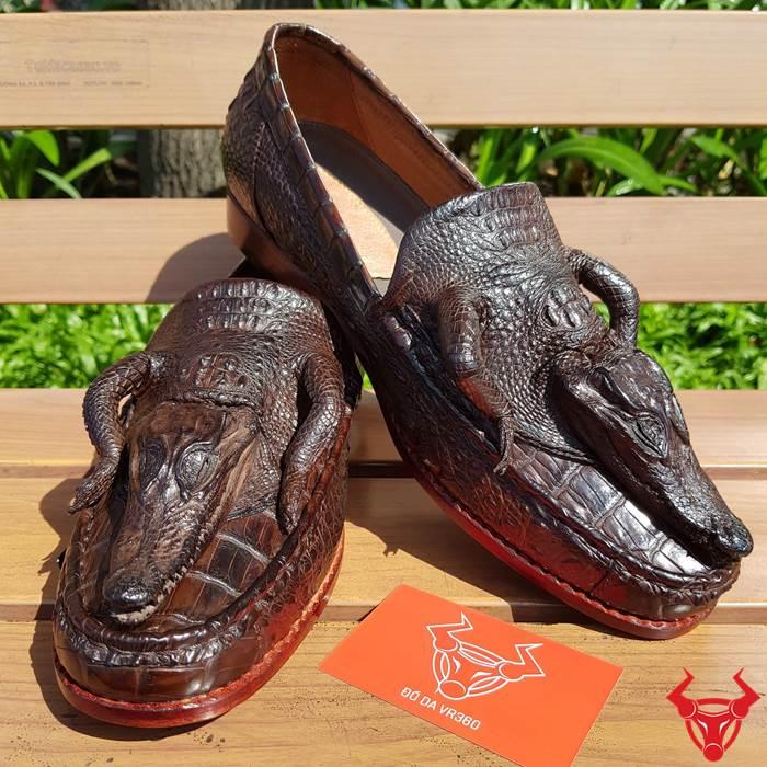 Giày Nam Da Cá Sấu Nguyên Con GĐC02 giá 7TR500