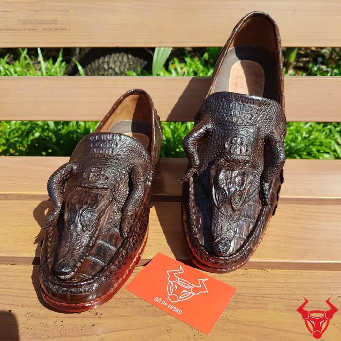 Giày Nam Da Cá Sấu Thật Nguyên Con GĐC02 chỉ 7TR500