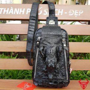 Túi Đeo Chéo Ngực Da Cá Sấu Nam TDLCS-01