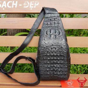 Túi Đeo Chéo Ngực Da Cá Sấu TDLCS01-Đ