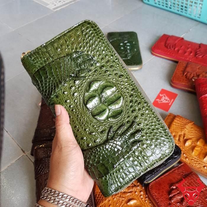 Bóp Cầm Tay Da Cá Sấu Xịn VN20-XR giá chỉ 2tr550