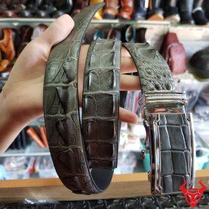 Dây Nịt Da Cá Sấu Liền TL150402-XÁM