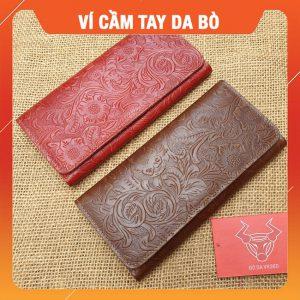 Ví Cầm Tay Nữ 3 Gấp Handmade VCT19