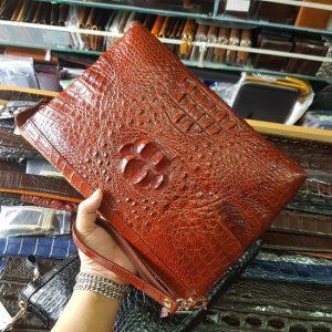 Clutch Nam Da Cá Sấu Thật CB0404