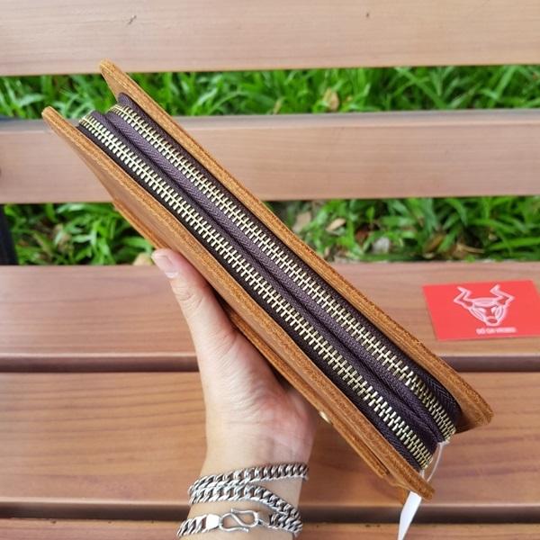 Clutch Cầm Tay Nam Da Bò Sáp VCT07-SB