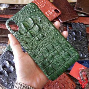 Ốp Lưng Da Cá Sấu Iphone XS Max 8 Gù Xanh Lá