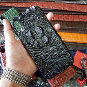 Ốp Lưng Iphone XS Max Da Cá Sấu 6 Gù Đen