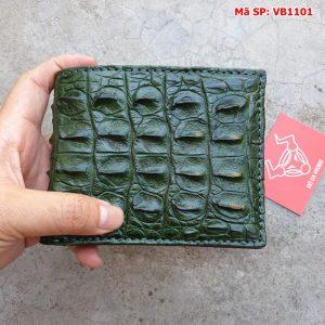 Bóp Ví Da Cá Sấu Xanh Lá VB11A1