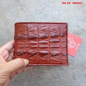 Bóp Ví Da Cá Sấu Nam Gai Đuôi VB4A2