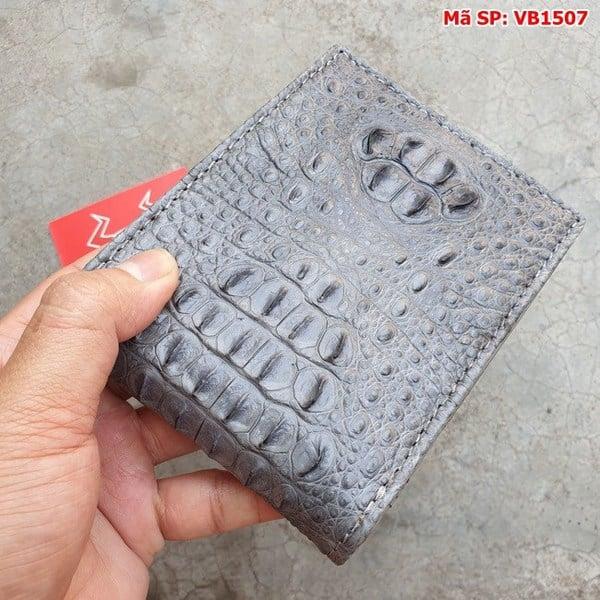 Tuidacasau Bóp Ví Da Cá Sấu Nguyên Con Xám VB1507 (4)